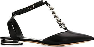 Casadei chain link ballerina shoes - Black