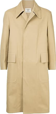Kent & Curwen concealed fastening mid-length coat - Brown