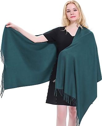 CJ Apparel Jade Green Thick Solid Colour Design Cotton Blend Shawl Seconds Scarf Wrap Stole Throw Pashmina CJ Apparel NEW