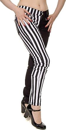 Banned Apparel Stripe Split Leg Skinny Jeans Waist