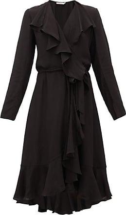 Mes Demoiselles... Exauce Ruffled Waterfall-hem Silk Dress - Womens - Black