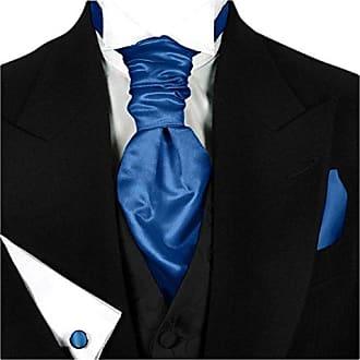 GASSANI 3er-Set Plastron Krawatten-Schal Breit, Cremefarbene Hochzeitskrawatte Gebunden Einstecktuch Manschettenkn/öpfe, Z. Hochzeitsweste Frack