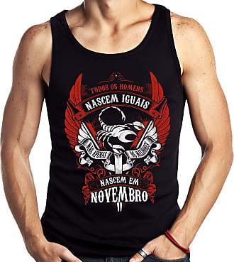 Dragon Store Camiseta Regata Homens de Novembro os Melhores Signo Escorpião