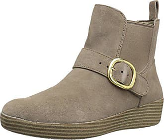 3326d755e FitFlop Womens SUPERBUCKLE Suede Chelsea Boots Fashion