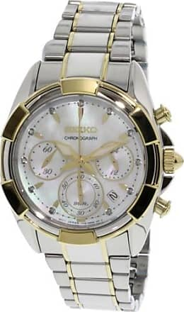 Seiko Womens SRW808 Silver Stainless-Steel Japanese Chronograph Fashion Watch