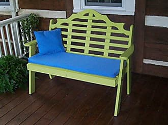 A & L Furniture A & L Furniture 858-LM Lime Poly Marlboro Garden Bench, Lime