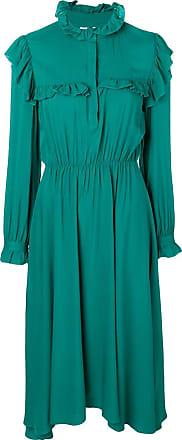 Jovonna London Vestido assimétrico com acabamento de babados - Verde