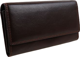 Visconti Ladies Larger LEATHER Purse Wallet by Visconti; Heritage Collection Gift Boxed (Chocolate)
