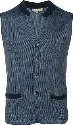N.Peal patterned waistcoat jacket - Blue