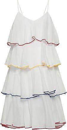 fcedae8fe9 Lisa Marie Fernandez Lisa Marie Fernandez Woman Rick Rack-trimmed Cotton-poplin  Coverup White
