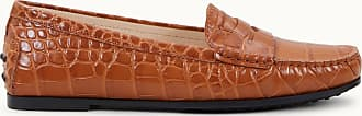 Tod's City Gommino Mokassin aus Leder, ORANGE, 35 - Shoes