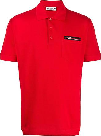 Givenchy Camisa polo com logo - Vermelho