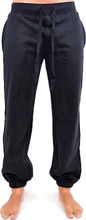 Tom Franks Mens Soft Jogging Gym Pant Trouser with Elasticated Cuff Bottom - Black - L