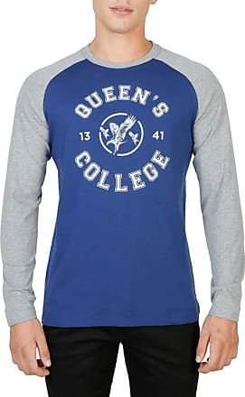 Oxford University Mens T-Shirt Blue Blue/Grey Large