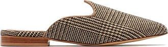 Giuliva Heritage Collection X Le Monde Beryl Venetian Checked Mules - Womens - Brown Multi