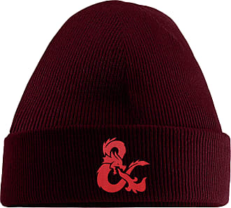HippoWarehouse Dragon Symbol Embroidered Beanie Hat Maroon