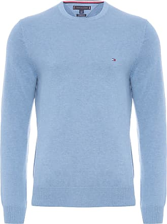 Tommy Hilfiger SUÉTER MASCULINO SIGNATURE SOLIDC NECK - AZUL