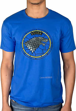 AWDIP Official Game of Thrones Stark Glass Window T-Shirt Lannister Lion Winter is Coming Blue