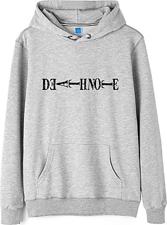 Haililais Death Note Pullover Pullover Sweatshirt Long Sleeve Sweater Outerwear Adult Casual Sports Fashion Wild Warm Men and Women Unisex (Color : Gray04, Size