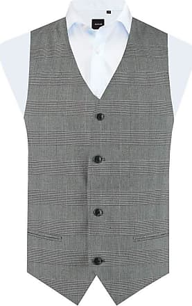 Dobell Boys Black and White Waistcoat Regular Fit Prince of Wales Check-7-8