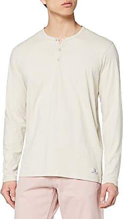 Blanco Medium para Hombre White Fit: Slim Fit JACK /& JONES Jprhugo tee LS Crew Neck Camisa Manga Larga