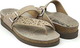 1aa43d85cf5ce3 Mephisto Helen Perf N Sandals Women Flip Flops SANDALBUCK 6018 Light Taupe  Size  EU 39