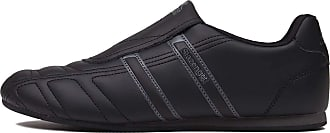Slazenger Mens Warrior Trainers Slip On Leather Sports Shoes Footwear Black/Charcoal UK 9.5 (43.5)