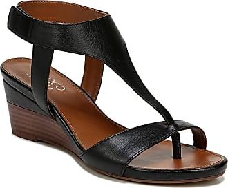 Franco Sarto Womens DORI Wedge Sandal, Black, 4 UK