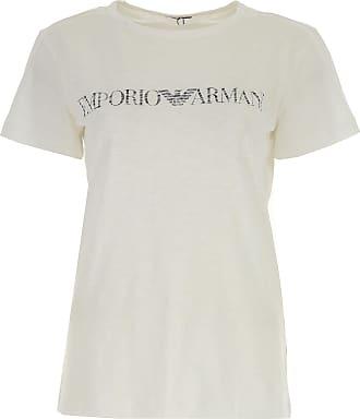 ff29e8cc11436 Emporio Armani T-Shirts für Damen, TShirts Günstig im Sale, Weiss, Baumwolle
