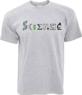 Tim And Ted The Word Science T Shirt Made from Scientific Things Grey X-Large