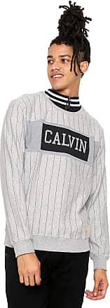 7b40af93af51d Calvin Klein Jeans Moletom Fechado Calvin Klein Jeans Estampado Cinza
