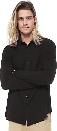 Osklen Camisa Osklen Reta Side Cuts Preta