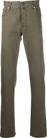 Kiton straight-leg denim jeans - Green