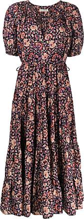 Ulla Johnson Kleid mit Blumen-Print - Schwarz