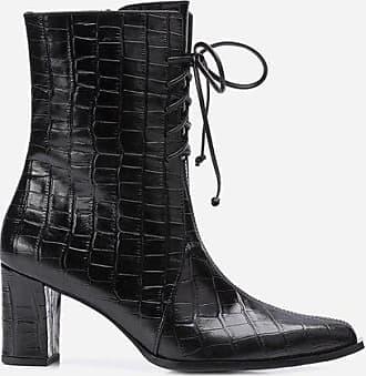Flattered Tine Croco Leather Black