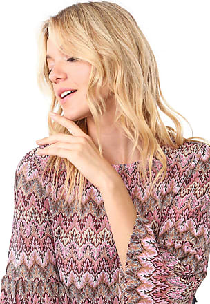 Vero Moda Blusa Vero Moda Padronagens Rosa/Bege
