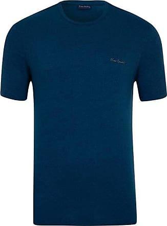 Pierre Cardin Camiseta Azul Petroleo Mesclada M