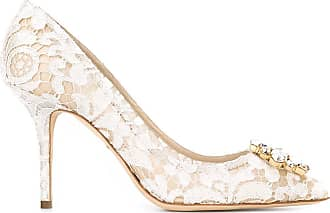 Dolce & Gabbana Scarpin de renda - Branco