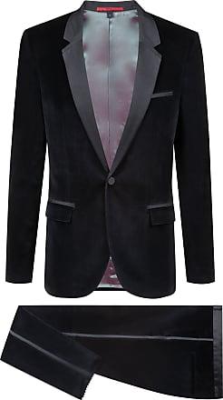 HUGO BOSS Extra-slim-fit velvet suit with silk trim
