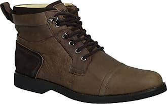 Doctor Shoes Antistaffa Coturno Masculino Gel Anatômico em Couro Café Graxo/Café Nobuck 8617 Doctor Shoes-Marrom-39
