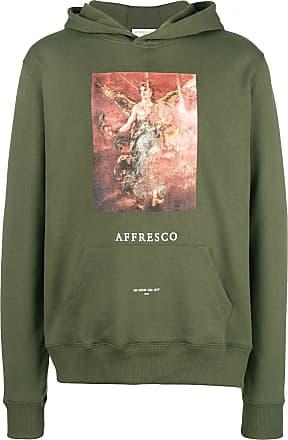 Ih Nom Uh Nit Affresco print hoodie - Verde