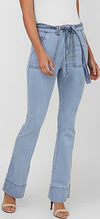 Enfim Calça Jeans Enfim Flare Pespontos Azul