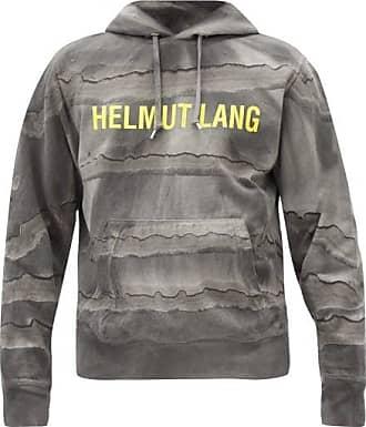 Helmut Lang Mega Marble-dyed Cotton Hooded Sweatshirt - Mens - Black Grey