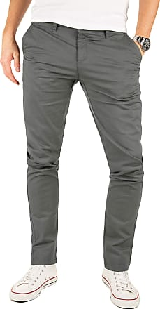 Yazubi Mens Trousers Chinos Pants Kyle - Skinny Slim Bigger Smokey Cloud, Grey (Magnet 4R193901), W40/L30