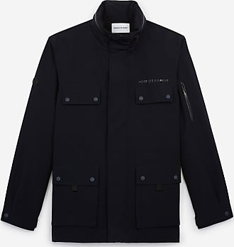 The Kooples Navy blue short parka with multiple pockets - MEN