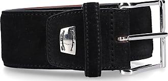 Santoni Men´s Belt CM35V Suede Logo black