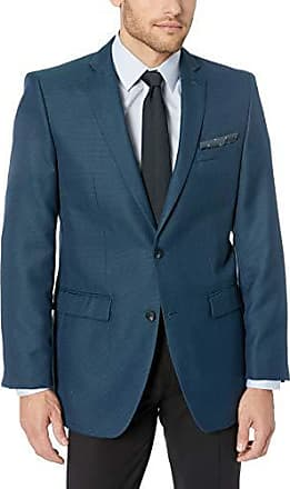 Perry Ellis Mens Solid Edge Striped Jacket