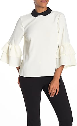 CeCe by Cynthia Steffe Peter Pan Collar Ruffle Sleeve Blouse