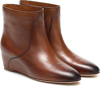 Gabriela Hearst Gorkin leather wedge ankle boots