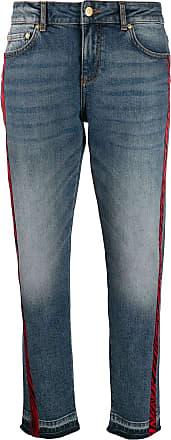 Escada Sport zebra stripe jeans - Azul